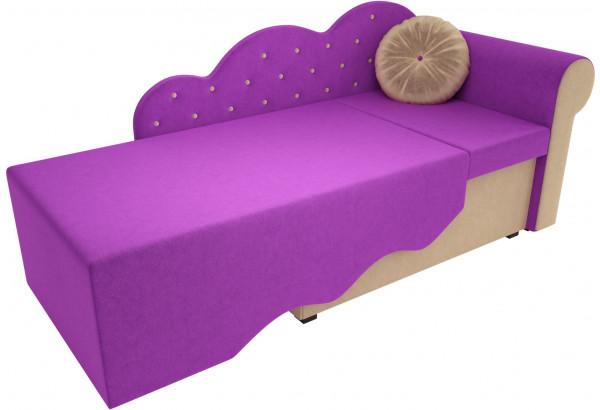 Детская кровать Тедди-1 фиолетовый/бежевый (Микровельвет) - фото 2