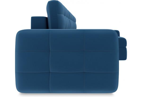 Диван угловой правый «Райс Т2» Beauty 07 (велюр) синий - фото 3
