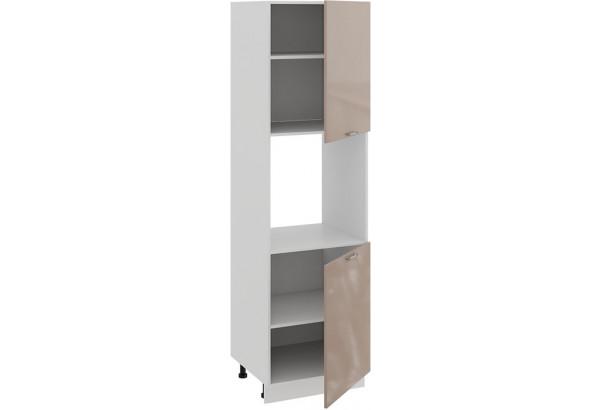 Шкаф-пенал под бытовую технику с двумя дверями «Весна» (Белый/Кофе с молоком) - фото 2