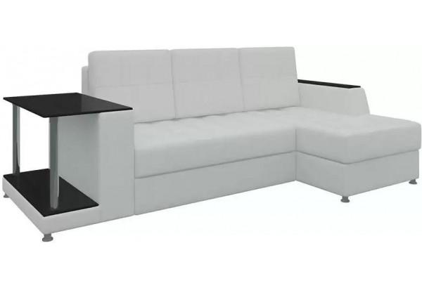 Угловой диван Атланта Белый (Экокожа) - фото 1