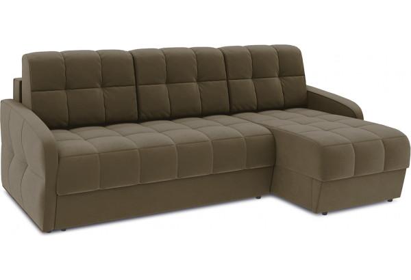 Диван угловой правый «Аспен Slim Т1» (Beauty 04 (велюр) коричневый) - фото 1