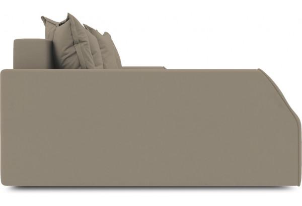 Диван угловой левый «Люксор Slim Т2» (Poseidon Mocco (иск.замша) светло-коричневый) - фото 5