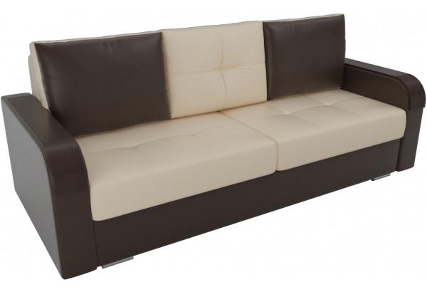 Прямой диван Мейсон бежевый/коричневый (Экокожа) - фото 4