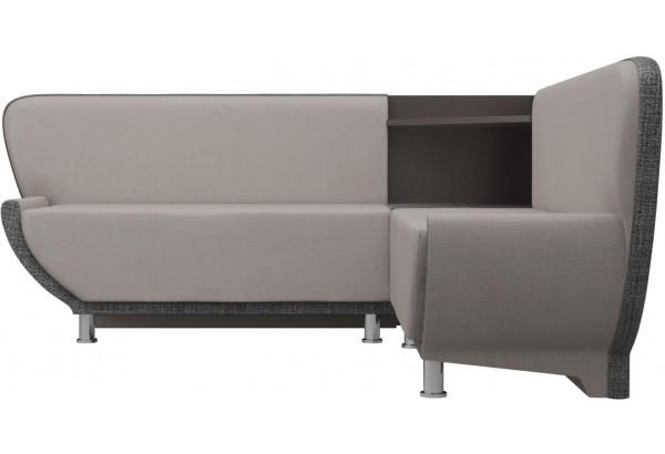 Кухонный угловой диван Лотос бежевый/Серый (Рогожка) - фото 2