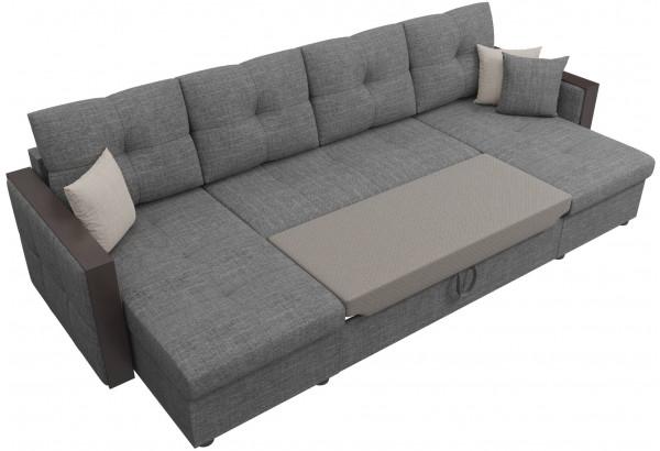 П-образный диван Валенсия Серый (Рогожка) - фото 6
