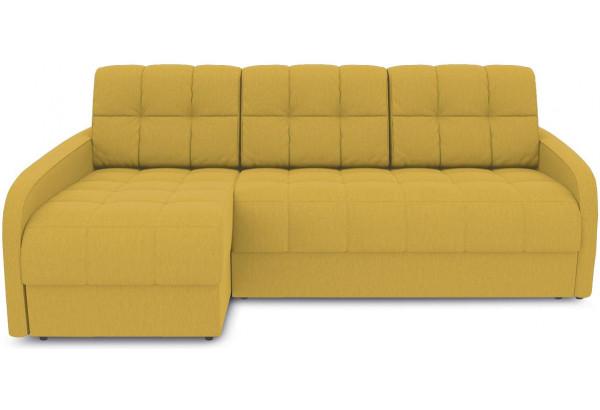 Диван угловой левый «Аспен Slim Т2» (Poseidon Curcuma (иск.замша) желтый) - фото 2