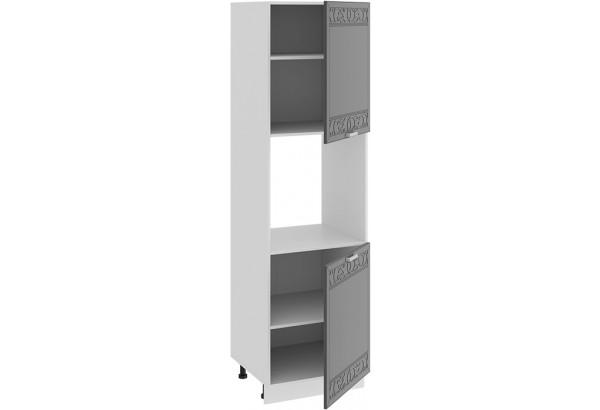 Шкаф-пенал под бытовую технику с двумя дверями «Долорес» (Белый/Титан) - фото 2