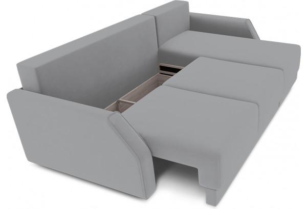 Диван угловой правый «Люксор Slim Т1» (Poseidon Grey (иск.замша) серый) - фото 6