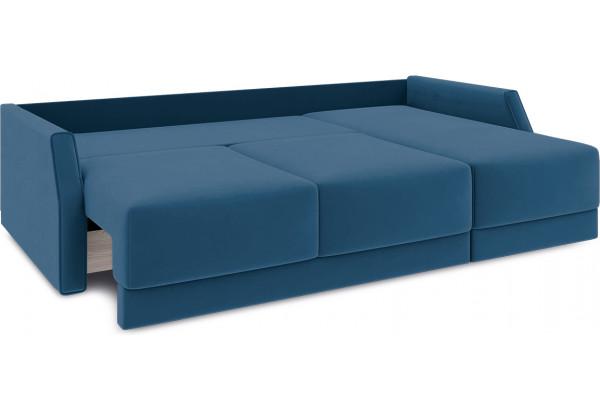 Диван угловой правый «Люксор Slim Т1» (Beauty 07 (велюр) синий) - фото 7