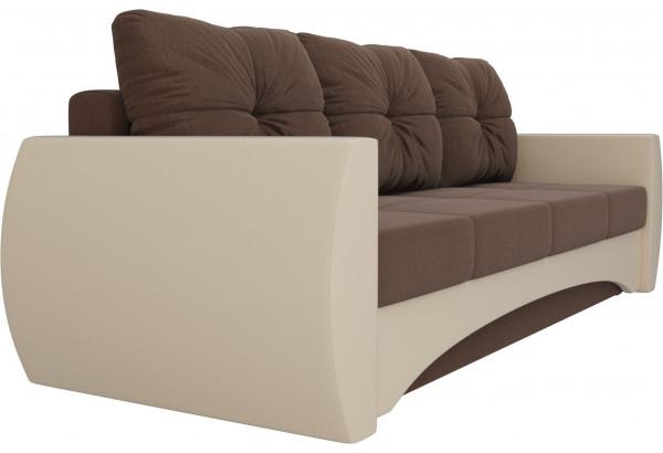 Прямой диван Сатурн Коричневый/Бежевый (Рогожка/Экокожа) - фото 3
