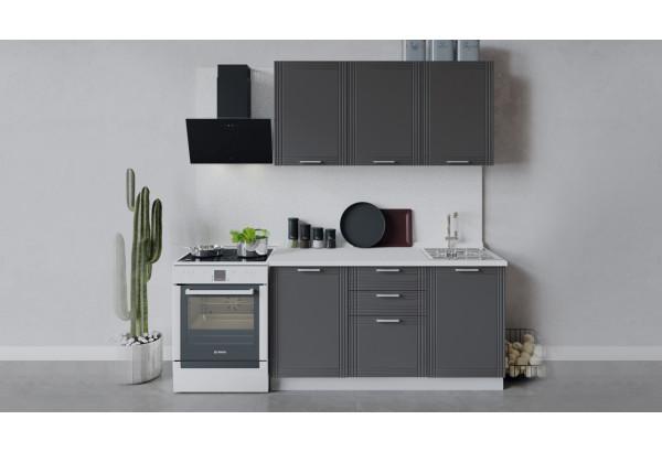 Кухонный гарнитур «Ольга» длиной 150 см (Белый/Графит) - фото 1