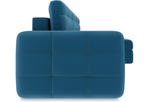 Диван угловой правый «Райс Т1» Beauty 07 (велюр) синий - фото 3