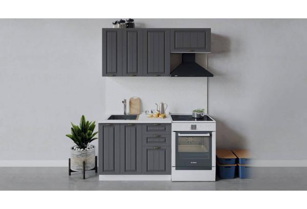 Кухонный гарнитур «Лина» длиной 160 см (Белый/Графит) - фото 1