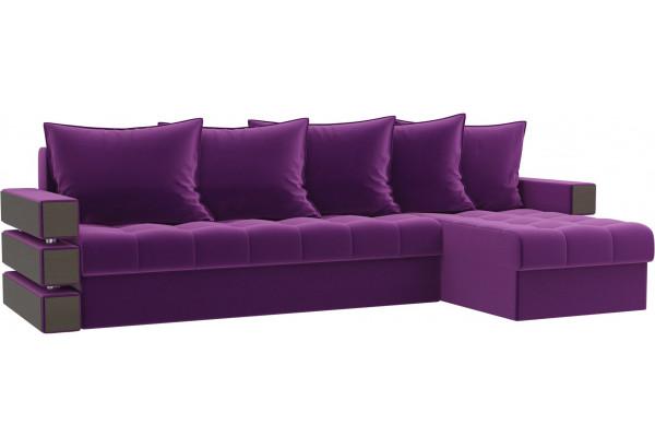 Угловой диван Венеция Фиолетовый (Микровельвет) - фото 1