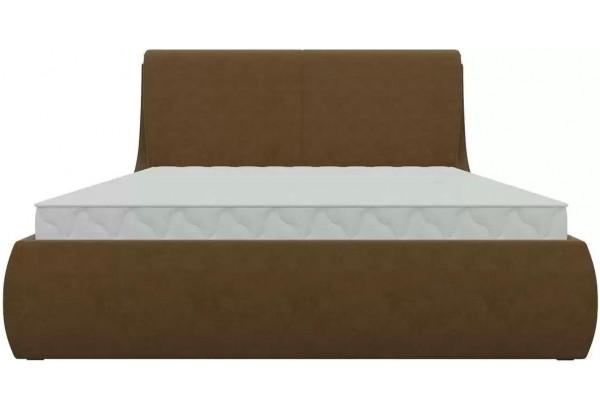 Интерьерная кровать Принцесса Коричневый (Микровельвет) - фото 2