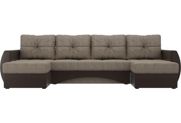 П-образный диван Сатурн Корфу 03/коричневый (Корфу/экокожа) - фото 2