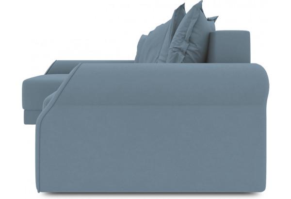 Диван угловой левый «Люксор Т2» (Poseidon Ocean (иск.замша) серо-голубой) - фото 3