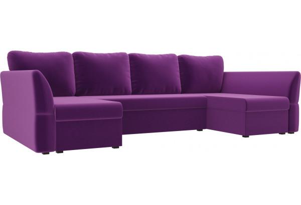 П-образный диван Гесен Фиолетовый (Микровельвет) - фото 1