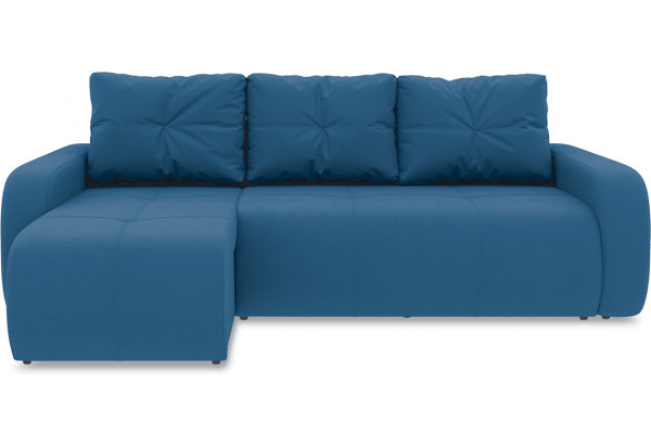 Диван угловой левый «Томас Т1» Beauty 07 (велюр) синий - фото 2