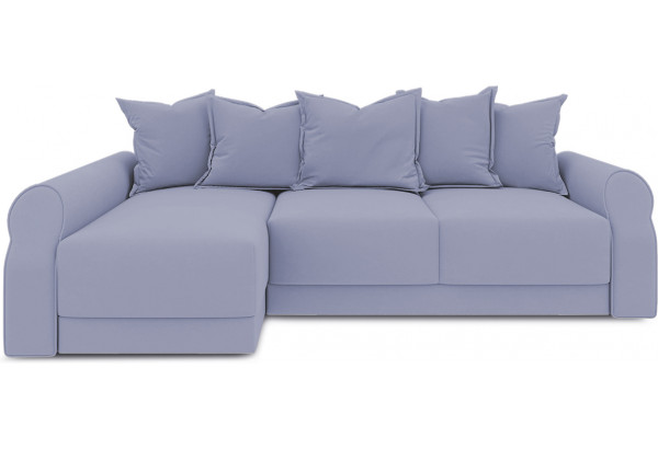 Диван угловой левый «Люксор Т2» (Poseidon Blue Graphite (иск.замша) серо-фиолетовый) - фото 2