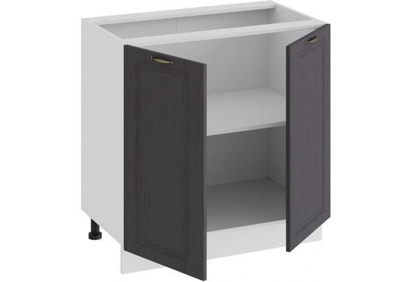 Шкаф напольный с двумя дверями «Лина» (Белый/Графит) - фото 2