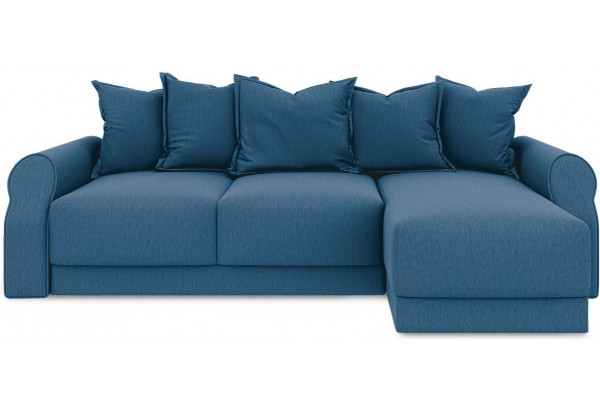 Диван угловой правый «Люксор Т1» Beauty 07 (велюр) синий - фото 2