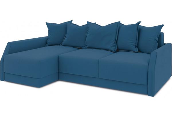 Диван угловой левый «Люксор Slim Т2» (Beauty 07 (велюр) синий) - фото 1