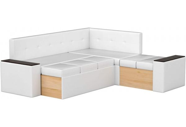 Кухонный угловой диван Остин Белый (Экокожа) - фото 3
