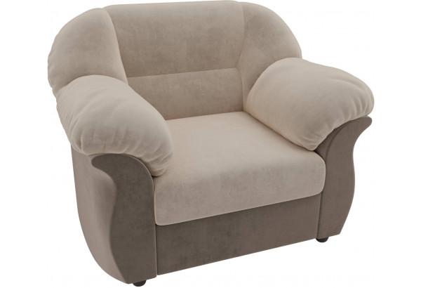 Кресло Карнелла бежевый/коричневый (Велюр) - фото 4