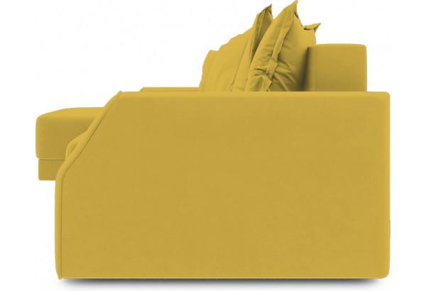 Диван угловой левый «Люксор Slim Т1» (Poseidon Curcuma (иск.замша) желтый) - фото 3
