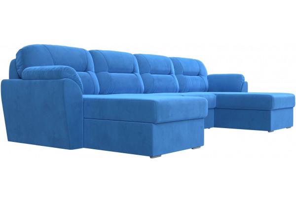 П-образный диван Бостон Голубой (Велюр) - фото 3