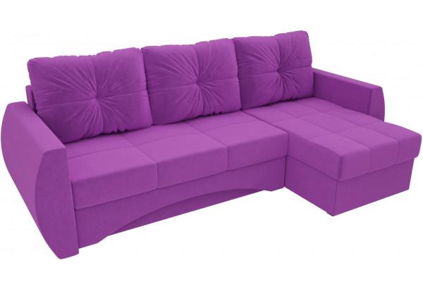 Угловой диван Сатурн Фиолетовый (Микровельвет) - фото 4