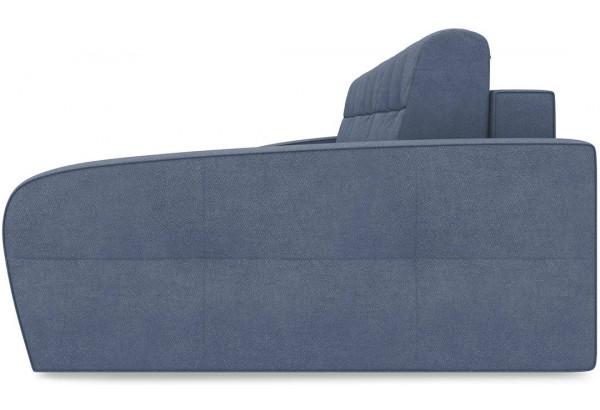 Диван угловой правый «Аспен Slim Т2» Maserati 21 (велюр), серо-синий - фото 3