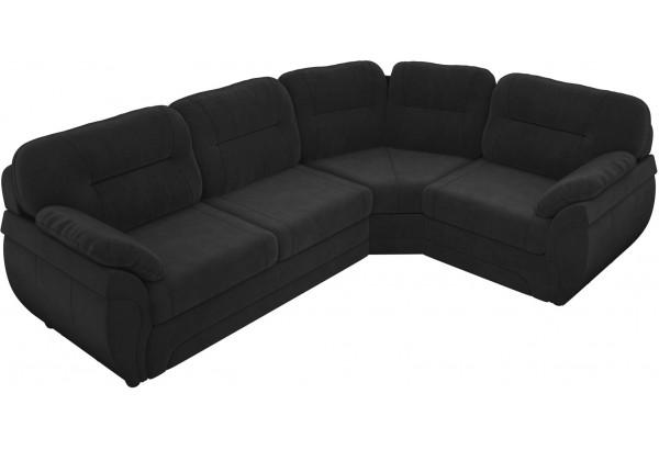 Угловой диван Бруклин Черный (Велюр) - фото 3