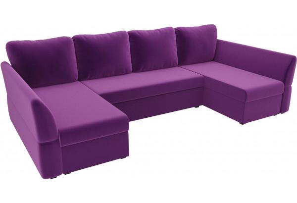 П-образный диван Гесен Фиолетовый (Микровельвет) - фото 4