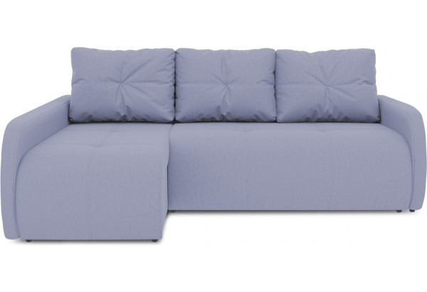Диван угловой левый «Томас Slim Т2» (Poseidon Blue Graphite (иск.замша) серо-фиолетовый) - фото 2