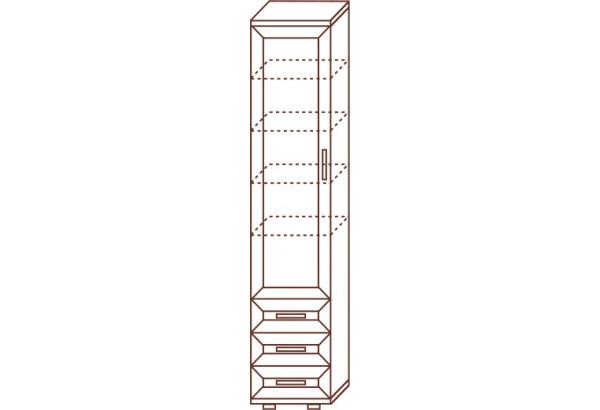 Пенал для белья с ящиками глубокий №103 - фото 2