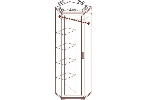 Шкаф угловой разносторонний №104 - фото 2