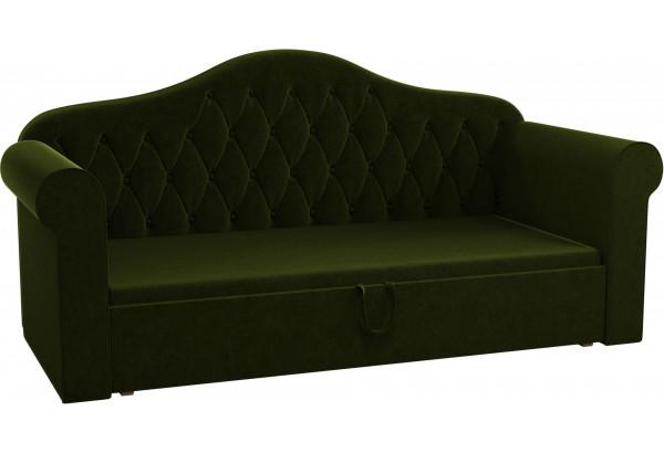 Детская кровать Делюкс Зеленый (Микровельвет) - фото 1