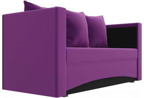 Кушетка Чарли Фиолетовый/Черный (Микровельвет) - фото 3