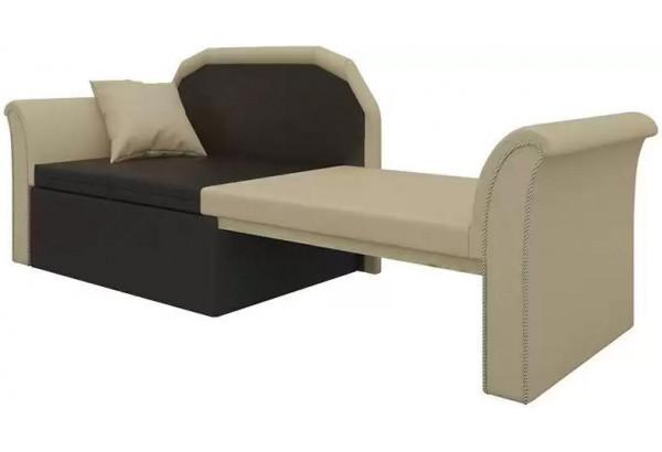 Кушетка Кипр-2 (Бежевый\Коричневый) бежевый/коричневый (Экокожа) - фото 3