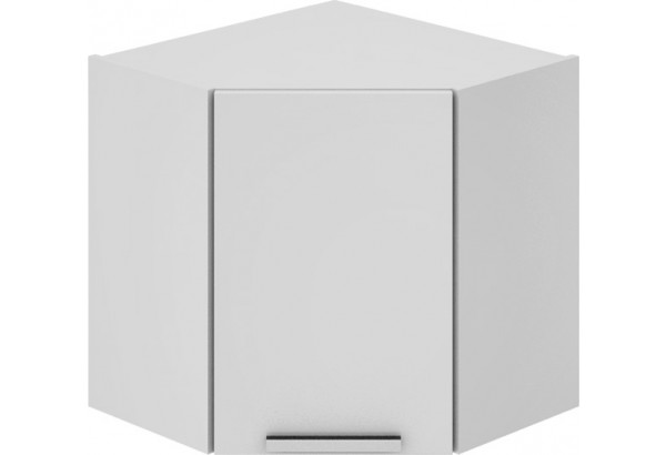 Шкаф навесной угловой с углом 45° Фэнтези (Белый универс) - фото 2