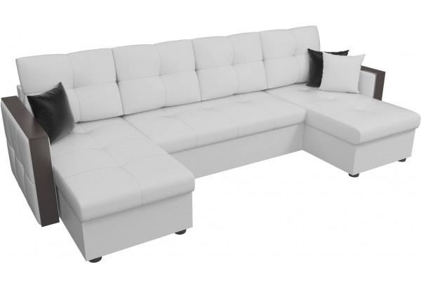 П-образный диван Валенсия Белый (Экокожа) - фото 3