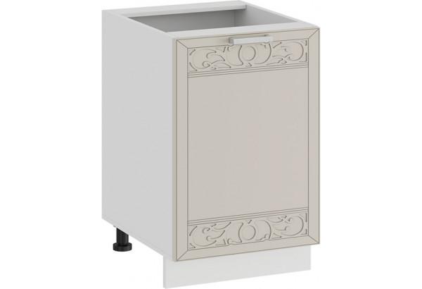 Шкаф напольный с одной дверью «Долорес» (Белый/Крем) - фото 1