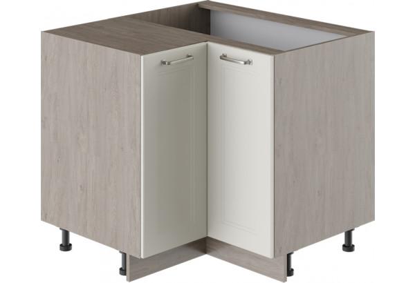 Шкаф напольный угловой с углом 90° ОДРИ (Бежевый шелк) - фото 1