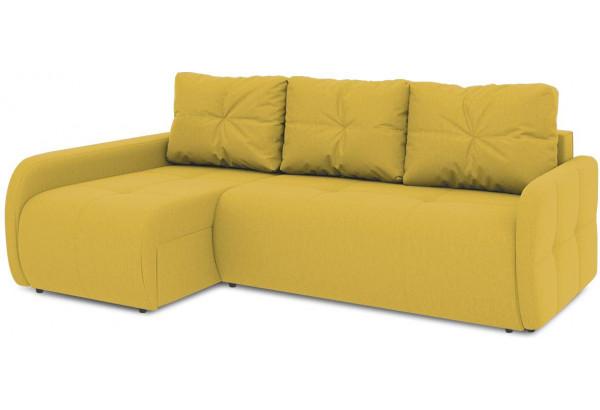 Диван угловой левый «Томас Slim Т2» (Poseidon Curcuma (иск.замша) желтый) - фото 1