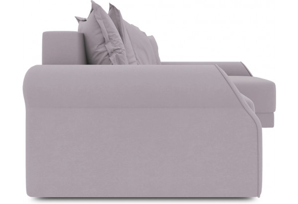 Диван угловой правый «Люксор Т2» (Poseidon Pale Lavender (иск.замша) бледно-лавандовый) - фото 3