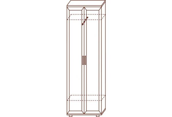 Шкаф для одежды узкий №128 - фото 2