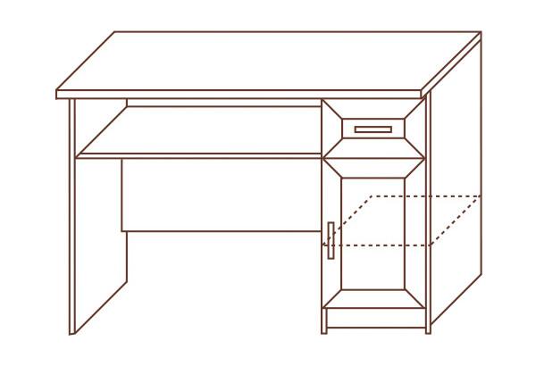 Стол компьютерный №129 - фото 2