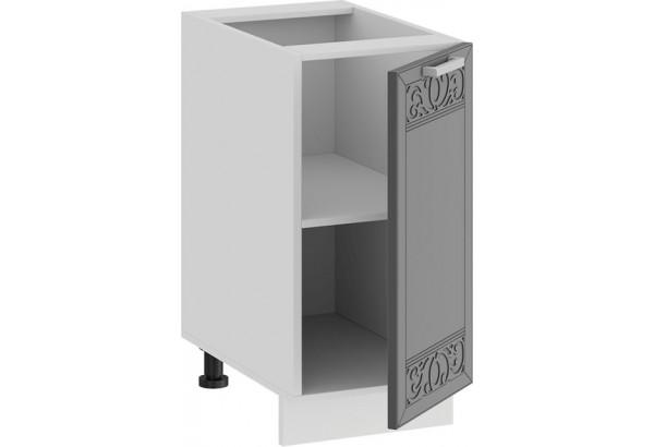 Шкаф напольный с одной дверью «Долорес» (Белый/Титан) - фото 2